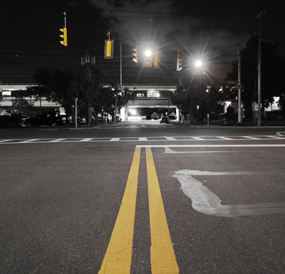 Traffic Signal Design_mult_BW Photo Intersection